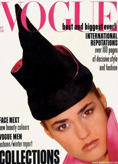 Vogue UK, Sept 1985. Yasmin Le Bon,