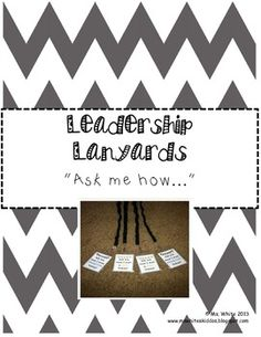 Leadership Lanyards {Leader in Me & 7 Habits} in place of or in addition to smart beads