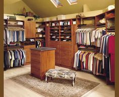 """Isn't this closet beautiful?  Now if I just had space for one this size!  This one is from """"our"""" closet guy's gallery: Home Options, Inc. – Closet Organizers and Garage Storage Systems, St. Paul / Minneapolis, MN - Laminate Gallery"""