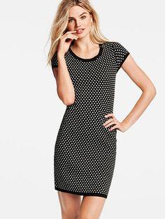 We love bodycon silhouettes! // Victoria's Secret Jacquard Sweaterdress