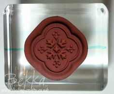 How to line up your Stampin' Up! Clear Mount Stamps - make a marker line on the clear mount block