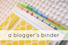 some good ideas - blogger binder