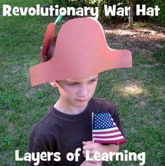 Revolutionary War Hat craft for kids.