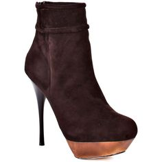 L.A.M.B. Brown Suede Booties