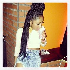 BOX BRAIDS / BUN / HAIRSTYLES / PROTECTIVE HAIRSTYLE / POETIC JUSTIC BRAIDS / DOOKIE BRAIDS / UP DO / NINJA BUN / DOOKIE BRAIDS / HAIR DO /