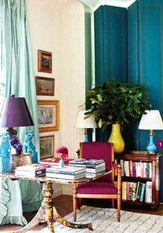 decor, interior, idea, jewel tones, offic, colors, hous, design, room