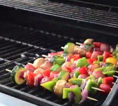grilled veggie kabobs, veggi kabob