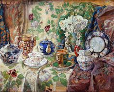 Still Life - Nikolay Bogdanov-Belsky - WikiPaintings.org  I love the work he has done!