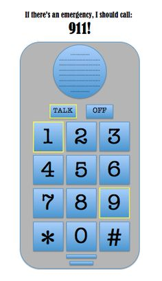 Learning to Dial 9-1-1 - - Pinned by @PediaStaff – Please visit http://ht.ly/63sNt for all (hundreds of) our pediatric therapy pins