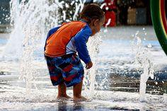 Buckets of fun at Cape Splash Family Aquatic Center's Splash Pad in Cape Girardeau Missouri by Hummie~, via Flickr