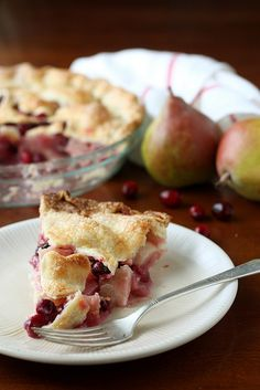 Cranberry Pear Pie by Completely Delicious, via Flickr
