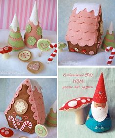 Super cute felt Christmas ornaments from a cool French site.