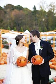 I love fall inspired weddings!