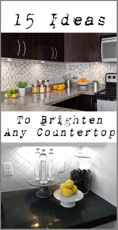 15 Ideas to Brighten Up a Kitchen or Bathroom Counter