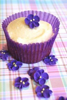 Royal Icing Violets