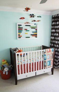 Fun modern baby #nursery @BabyCenter