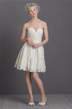 Lustrous Lace Dress in SHOP The Bride Reception Dresses at BHLDN