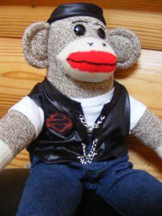 Motorcycle Sock monkey