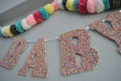 Banner at a Baby Shower #babyshower #partybanner