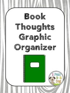 Book Club Discussion Organizer by 2 Peas and a Dog to help students keep track of their reading thoughts.