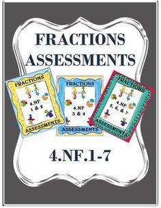 Fractions Assessment Packet from TPT