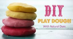 Homemade Play Dough Recipe WIth Natural Dyes (And A Gluten-Free Option!)