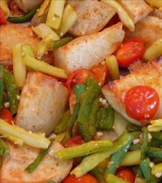 Roasted Potatoes, Cherry Tomatoes, and Green Beans