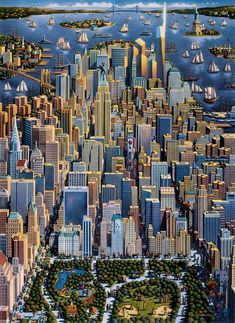 New York, with the new Freedom Tower at upper right - by Eric Dowdle.