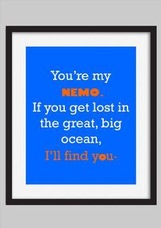 Finding Nemo Disney Quote Kids Decor Print