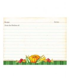 Free printable autumn recipe cards from Gooseberry Patch