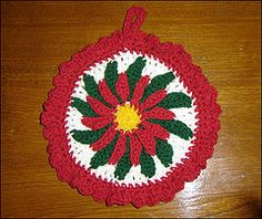 Christmas Pot Holder Patterns   Crochet Patterns