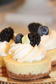 Individual Vanilla Bean Cheesecakes