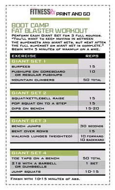 print out fat blaster workout