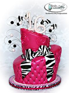 topsy turvy zebra birthday cake