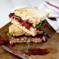Turkey Cranberry and Brie Sandwich