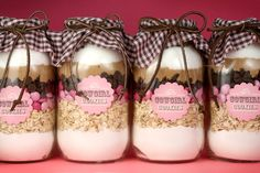 Gift idea: cake in a jar