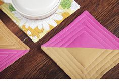 Quilted Color-Block Hot Pad Tutorial