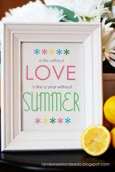 Landee See, Landee Do: A Summer Love Printable