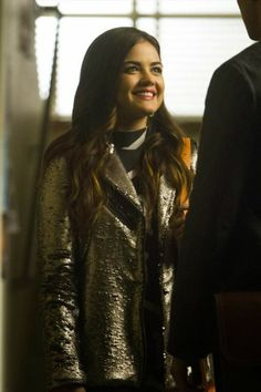 "Aria's Mural Sequin Bomber Jacket Pretty Little Liars Season 4, Episode 20: ""Free Fall"" - Spotted on TV"