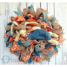 Burlap Easter Bunny Wreath