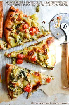 Spinach Artichoke Whole Wheat Pizza