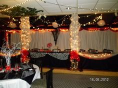 ideas here....my DIY head table backdrop :  wedding backdrops black diy head table decorations inspiration reception red red and black weddings white zebra print zebra weddings SANY0072