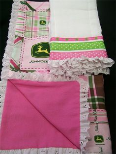 If we have a little girl, this is my inspiration for a nursery. John Deere & Lace. Love it!
