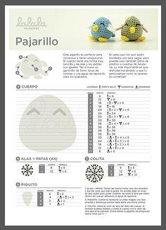 Pajarillo Amigurumi ~ Patrón Gratis en Castellano PDF