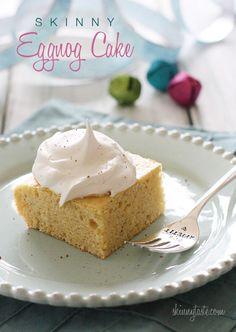 Eggnog Cake via @skinnytaste