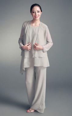 MOB: Chiffon Jacket & Chiffon Pant Set (but different color)