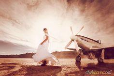 Angela's Vintage Aviation Trash the Dress