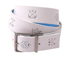 Special Blend Two Face Mens M/L White Reversible To Blue Snowboard Belt