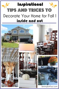 How to Decorate Your Home for Fall!