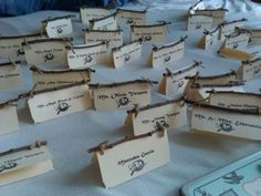 Beautiful rustic place cards